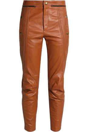 CHLOÉ Leather slim-leg pants