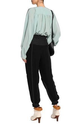 CHLOÉ Shirred silk tapered pants