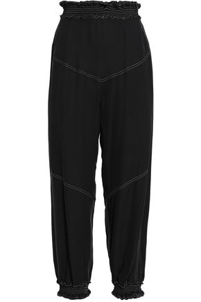 CHLOÉ Shirred silk tapered pants