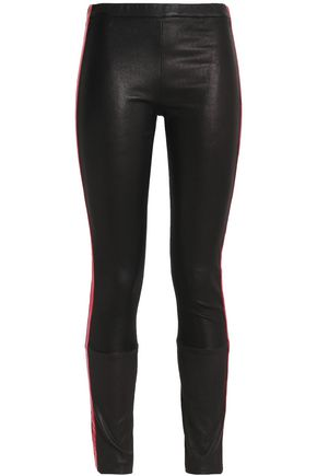 HAIDER ACKERMANN Metallic-trimmed leather skinny pants