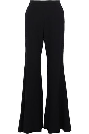 ROSETTA GETTY Wool-blend crepe wide-leg pants