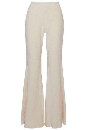 ROSETTA GETTY Velvet-cloqué flared pants