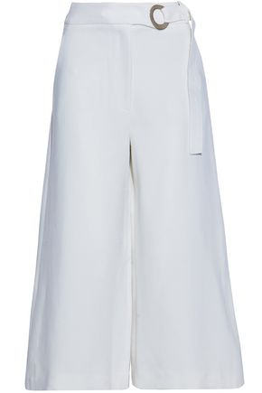 PROENZA SCHOULER Belted stretch-wool culottes