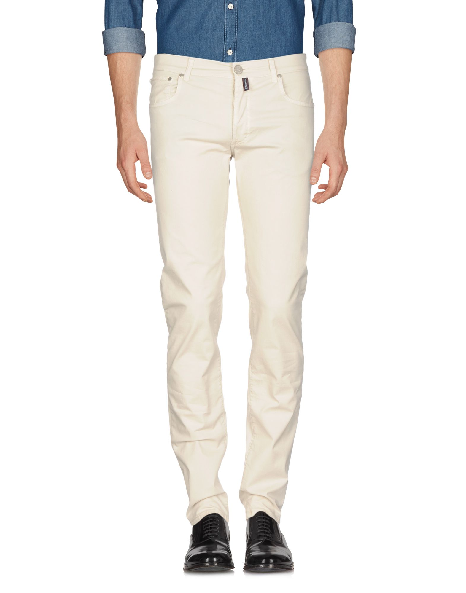 《セール開催中》E.MARINELLA メンズ パンツ ライトグレー 35 コットン 98% / ポリウレタン 2%
