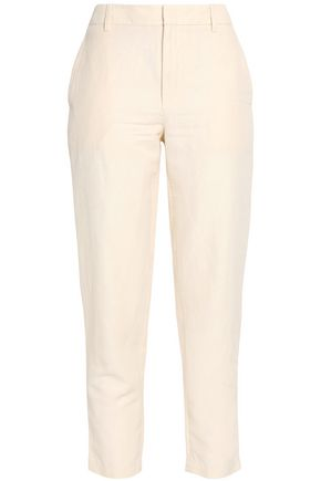 VINCE. Cropped twill slim-leg pants