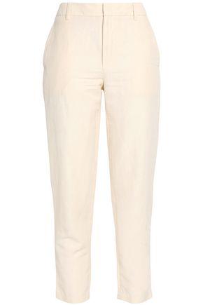 VINCE. Cropped twill slim-leg pants
