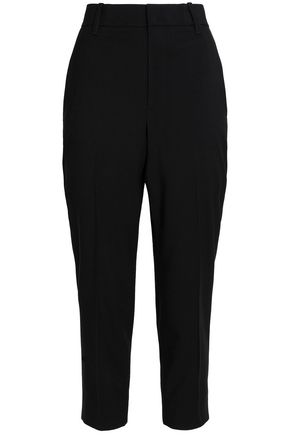 VINCE. Wool-blend crepe straight-leg pants