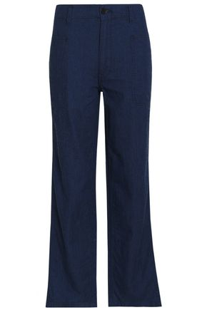 VINCE. Cotton-twill straight-leg pants
