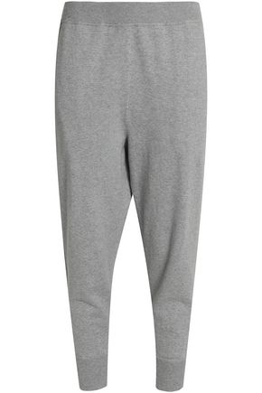 VINCE. Mélange cotton-blend track  pants