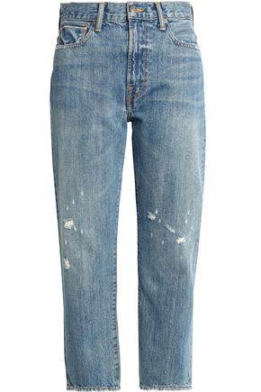 VINCE. Cropped distressed boyfriend jeans