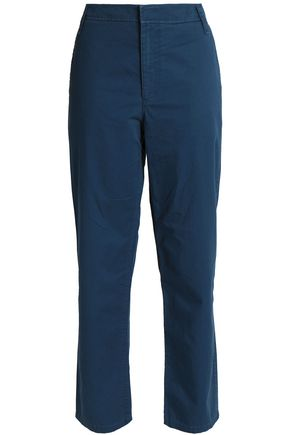 TIBI Cotton-twill straight-leg pants