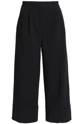 TIBI Pleated cotton-blend culottes