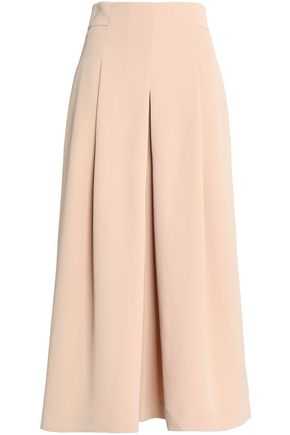 TIBI Pleated crinkled cady culottes