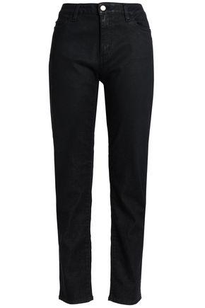 LOVE MOSCHINO High-rise slim-leg jeans