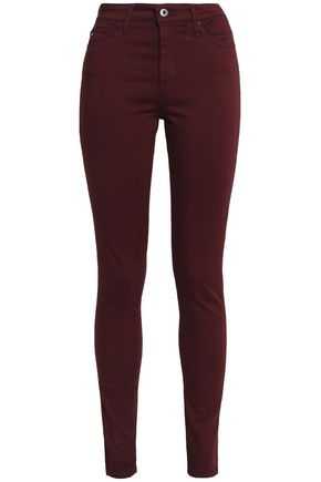 AG Jeans Cotton-blend twill skinny pants