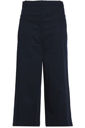TIBI Stretch cotton-poplin culottes