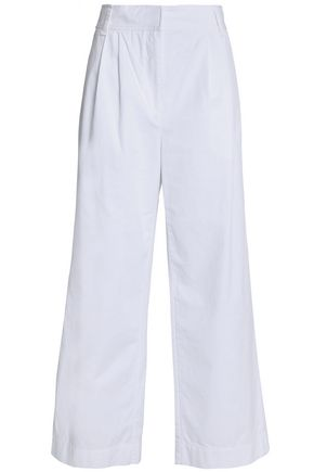 TIBI Cotton-twill wide-leg pants