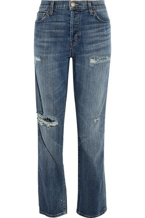 CURRENT/ELLIOTT The Slouchy distressed boyfriend jeans