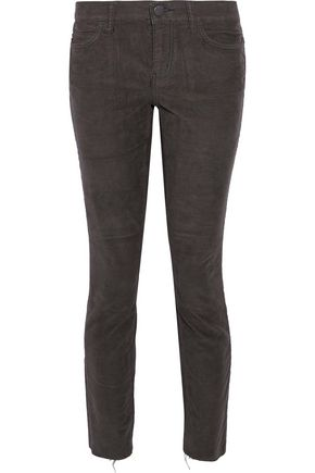 CURRENT/ELLIOTT Cotton-blend corduroy skinny pants