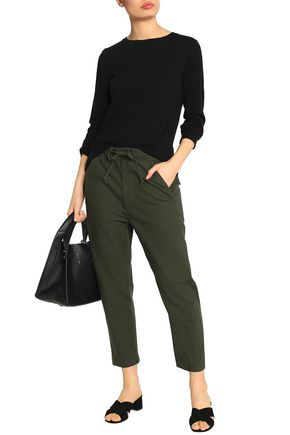 VINCE. Cropped cotton-canvas tapered pants