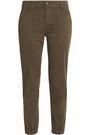 VINCE. Cropped cotton-blend twill slim-leg pants