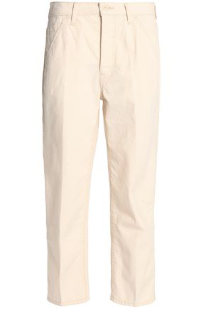 VINCE. Cropped cotton-twill straight-leg pants