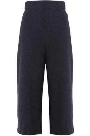 TIBI Cropped donegal jersey wide-leg pants