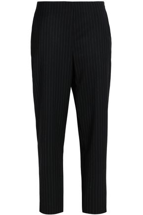 LOVE MOSCHINO Pintstriped gabardine tapered pants