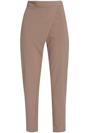MICHELLE MASON Wrap-effect cady tapered pants