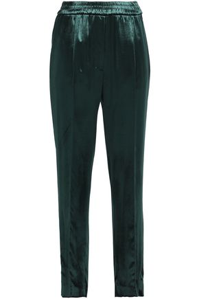 SANDRO Paris Velvet straight-leg pants