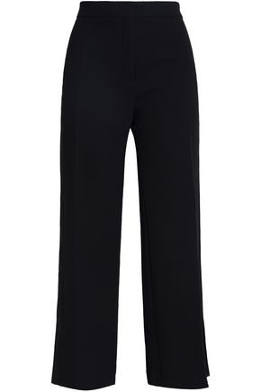 SANDRO Dean cropped crepe wide-leg pants
