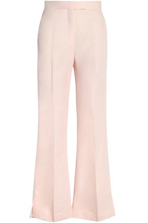 SANDRO Paris Ramie-blend cady flared pants