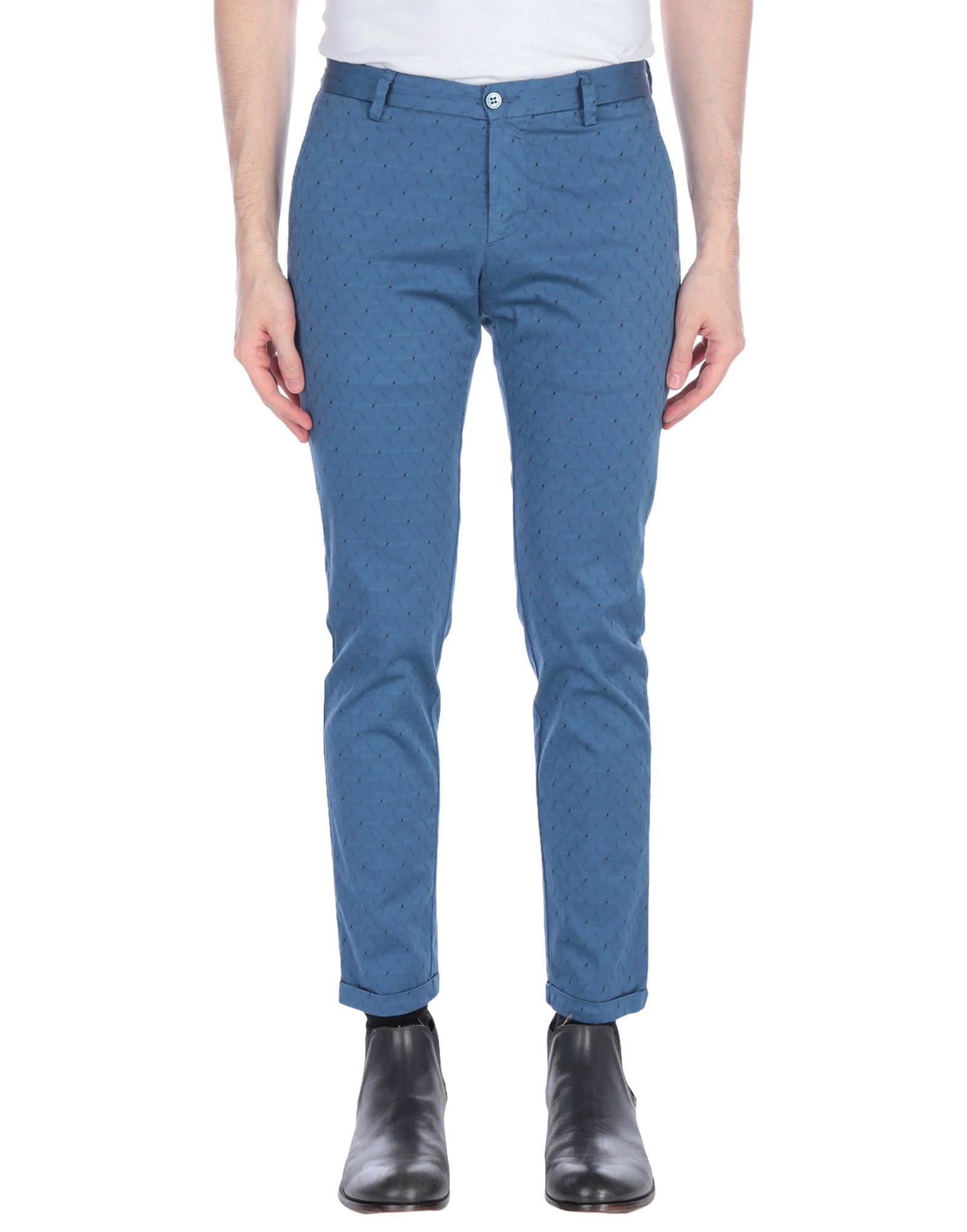 《期間限定セール開催中!》DOUBLE EIGHT メンズ パンツ ブルーグレー 44 コットン 98% / ポリウレタン 2%
