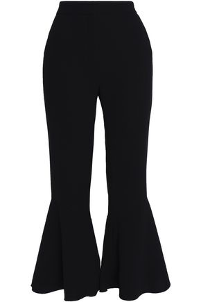 SANDRO Cropped ponte flared pants