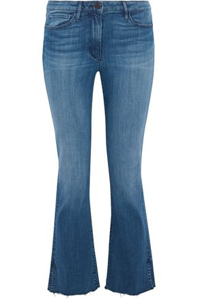 3x1 Frayed mid-rise kick-flare jeans