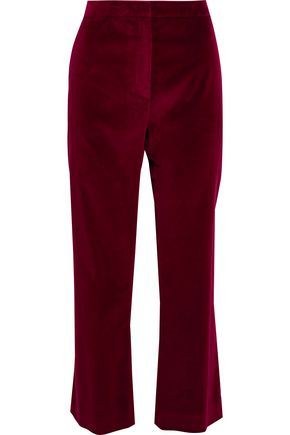 ALTUZARRA Nettle cotton-blend velvet bootcut pants