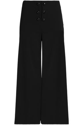 PROENZA SCHOULER Button-detailed wool-blend culottes