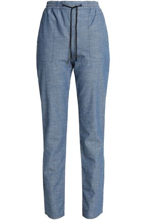 PROENZA SCHOULER Cotton-chambray straight-leg pants