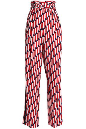 MARC JACOBS Printed crepe wide-leg pants