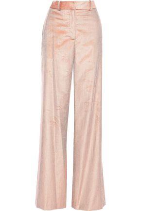 ADAM LIPPES Cotton-blend corduroy wide-leg pants