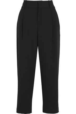 ALICE + OLIVIA Rosalinda cropped crepe wide-leg pants