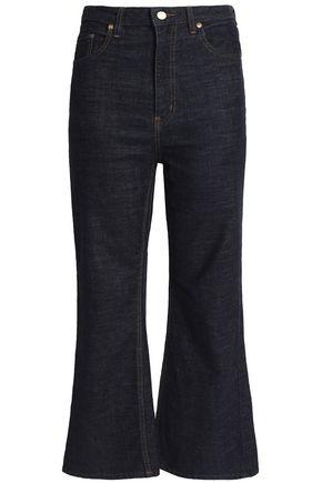 STELLA JEAN Cropped high-rise kick-flare jeans