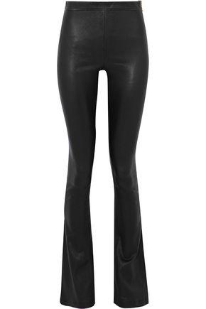 PIERRE BALMAIN Leather flared pants