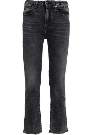 R13 Tilson faded high-rise kick-flare jeans
