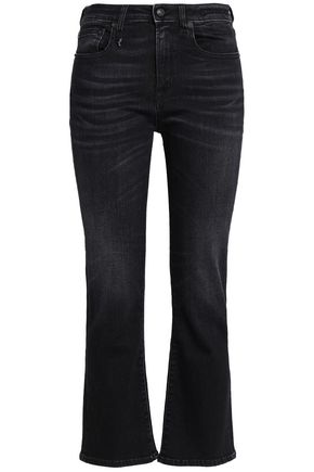 R13 Faded high-rise flared jeans