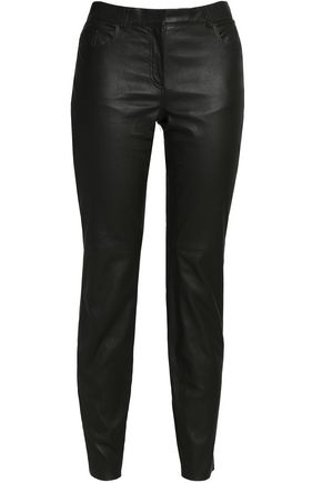 AMANDA WAKELEY Leather slim-leg pants