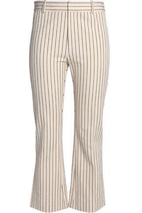DEREK LAM 10 CROSBY Striped stretch-cotton twill bootcut pants
