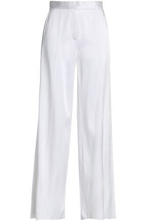 AMANDA WAKELEY Satin-crepe wide-leg pants