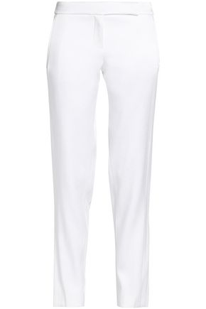 AMANDA WAKELEY Satin-crepe slim-leg pants