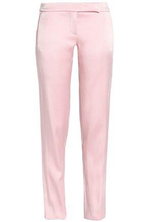 AMANDA WAKELEY Satin-crepe slim-leg pants